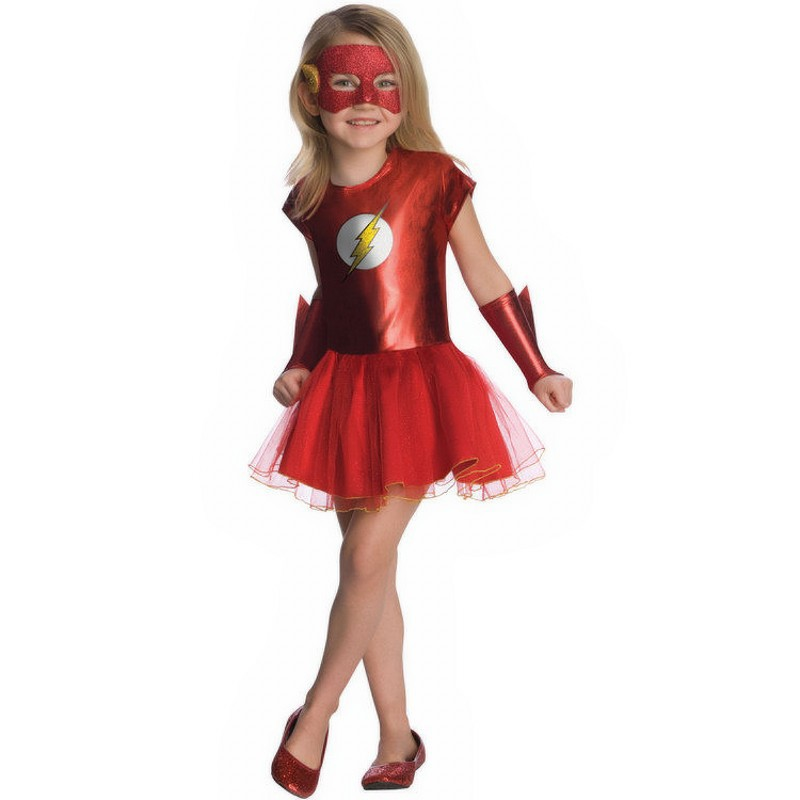 Comics The Flash superhero Fancy dress Girls/Child Superhero Costume