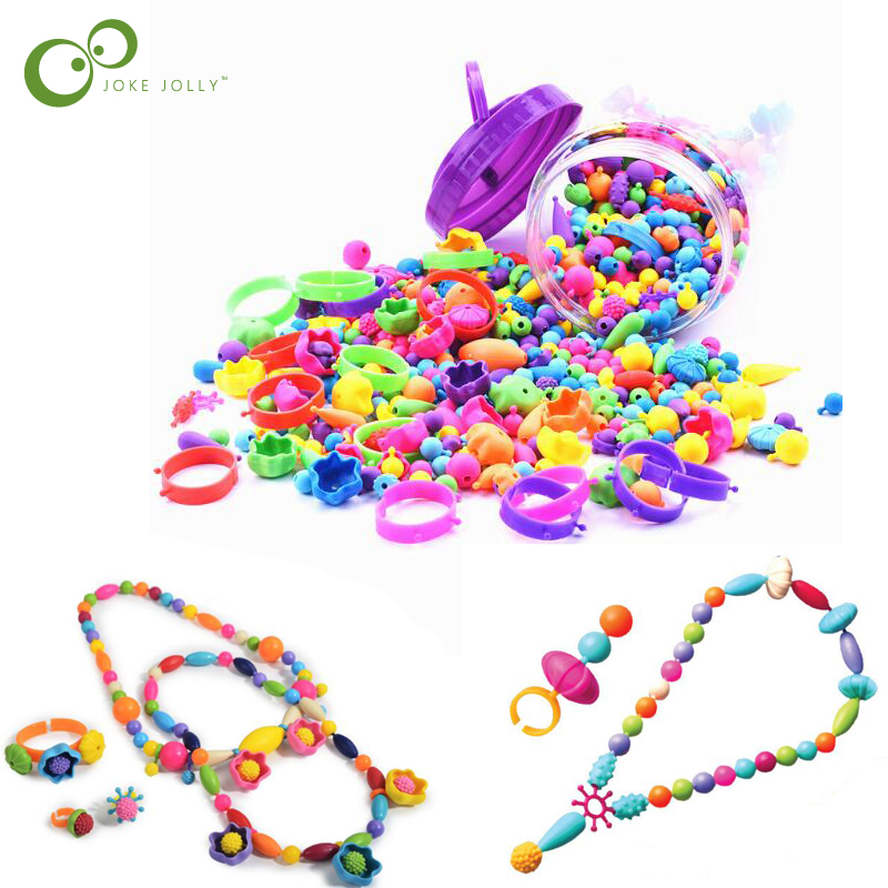 Girls DIY Handmade Hama Beads beading kids set Mind Development Educational Toys Baby Birthday Gift Beaded Toys LYQ(China)