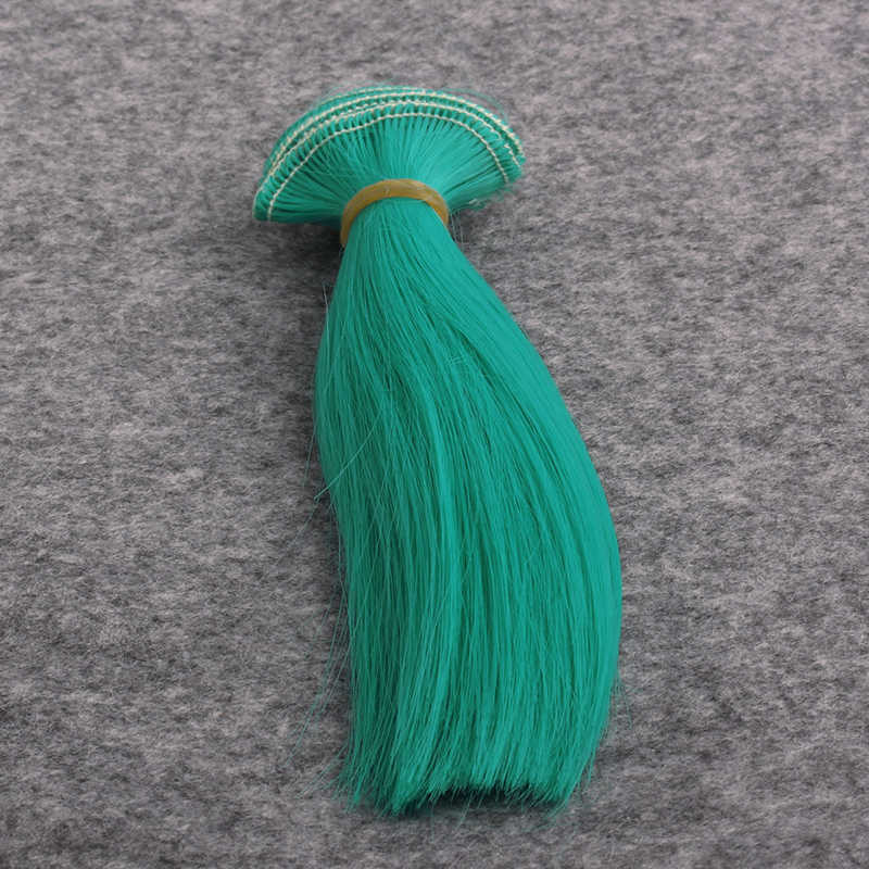 18 дюймов девочка кукла парики 15 см * 100 см кукольные волосы красные, синие черного, желтого цвета 45 цветов парики с прямыми волосами для 1/3 1/4 1/6 BJD DIY JF002