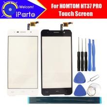 5.0 pouces HOMTOM HT37 PRO écran tactile verre 100% garantie Original nouveau verre panneau écran tactile pour HT37 PRO + outils + adhésif