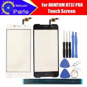 Image 1 - 5,0 zoll HOMTOM HT37 PRO Touchscreen Glas 100% Garantieren Original Neue Glas Panel Touch Screen Für HT37 PRO + werkzeuge + Adhesive