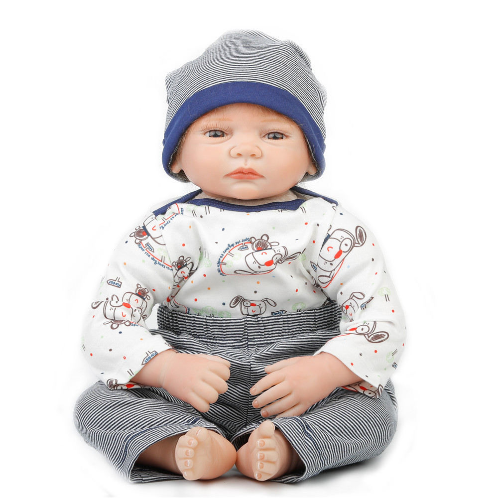 SanyDoll 22 inch 55 cm Silicone baby reborn dolls, lifelike Fashion Cute Suit doll holiday gift sanydoll reborn baby dolls cute suit clothes gift baby growth partners magnet pacifier 22 55cm