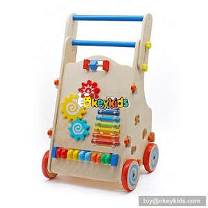 Wooden with lovely animal fruit speed can baby walkers