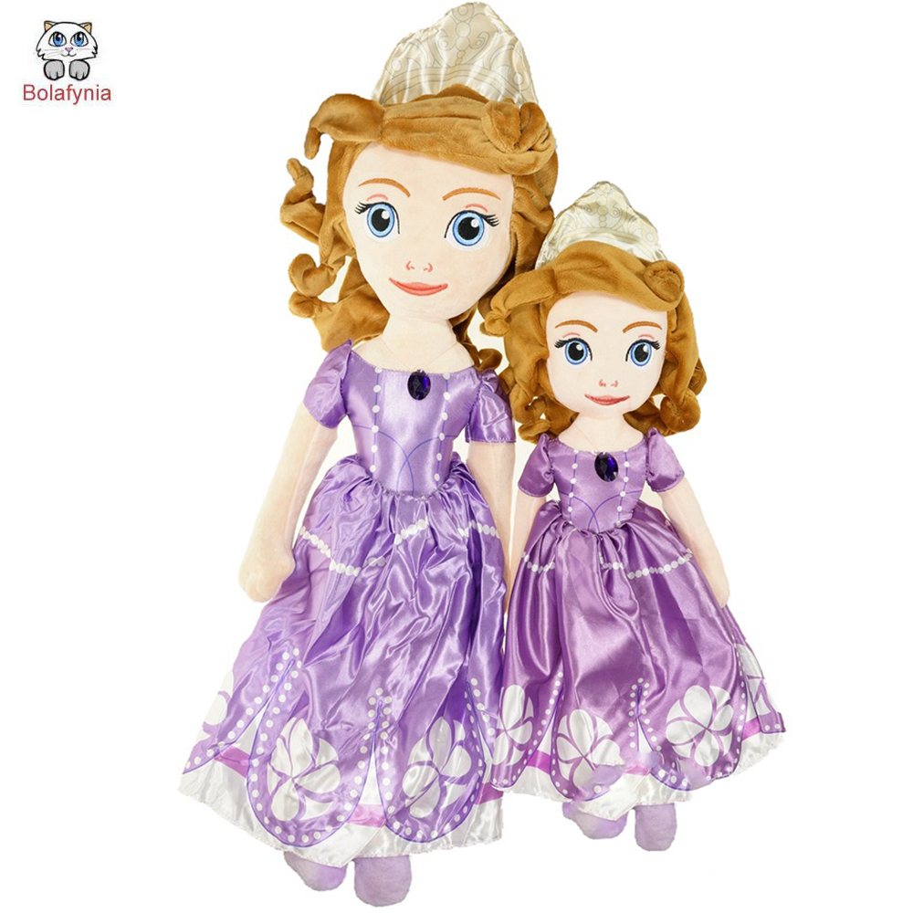 BOLAFYNIA Children Stuffed Princess Sophia plush kid toys baby birthday gift 2016 hot selling 22cm the first sofia princess dolls toys sophia clover cartoo toys rabbit plush doll