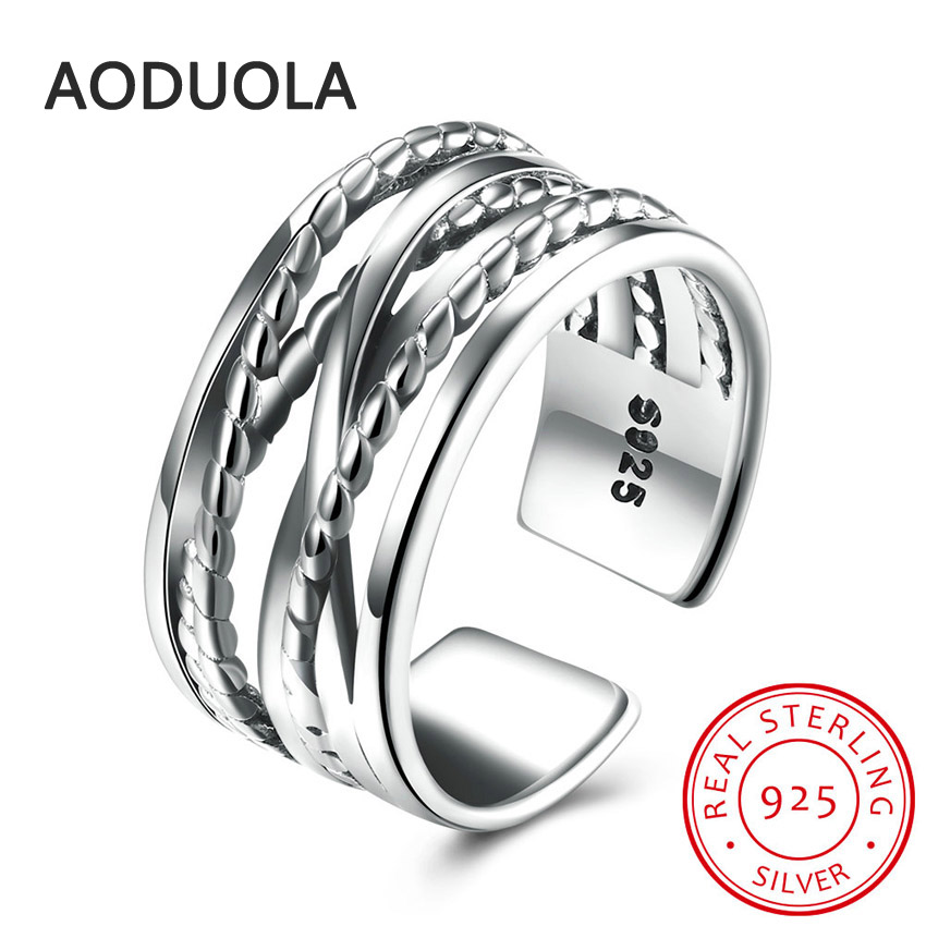 925 Sterling Silver Entwined and Clear CZ Womens Rings for Ladies and Girls Finger Lover wedding Gift