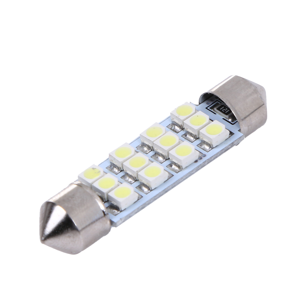 10pcs White Great Car Dome 12 3528-smd Led Bulb Light Interior Festoon Lamp 41mm Automobiles & Motorcycles