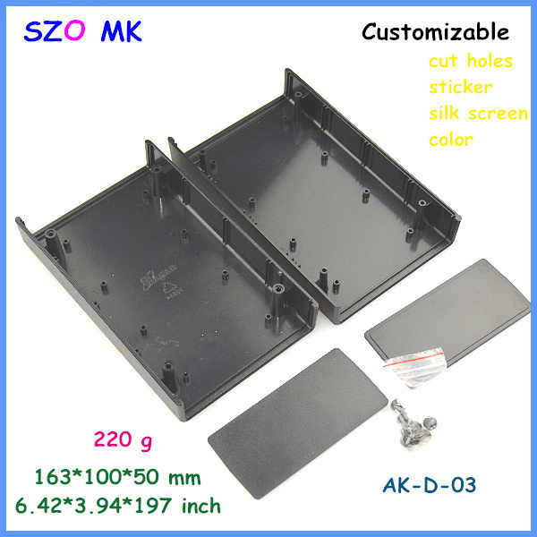 Szomkプラスチックケース計器エンクロージャプラスチック接合ハウジング(4ピース) 163*100*50ミリメートルプラスチックエンクロージャエレクトロニクス用キャビネット