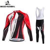 2017 AOZHIDIAN Cycling Set Men Long Sleeve Conjunto Maillot Ropa Ciclismo Cheap Pro Team Wear Custom
