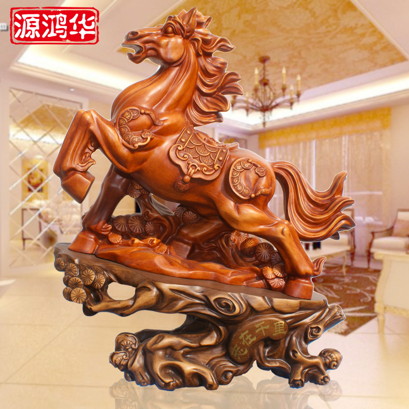 home decoration accessories Resin handicraft factory direct wholesale in business gifts, wooden ornaments horse move