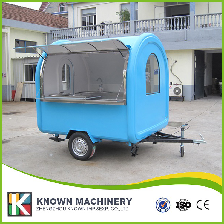 The best selling mobile Food Trailer food cart and food truck on hot sale multifunctional mobile food trailer cart fast food kitchen concession trailer