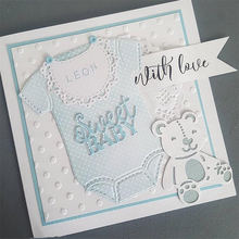 JC Metal Cutting Dies for Scrapbooking Cut Die T-Shirt Clothes Bear Stencil Handmade Paper Card Making Model Decoration Craft