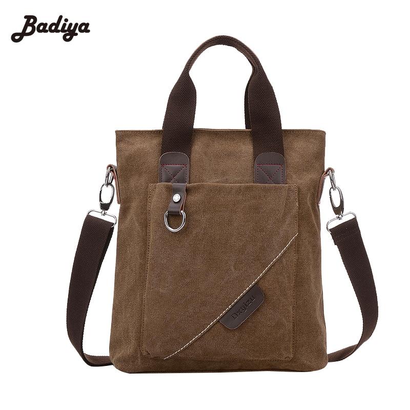 Hot New Vintage Men Canvas Casual Travel Shoulder Bag Multifunction Multi Layer Crossbody Bags Adjustable Strap Rucksack