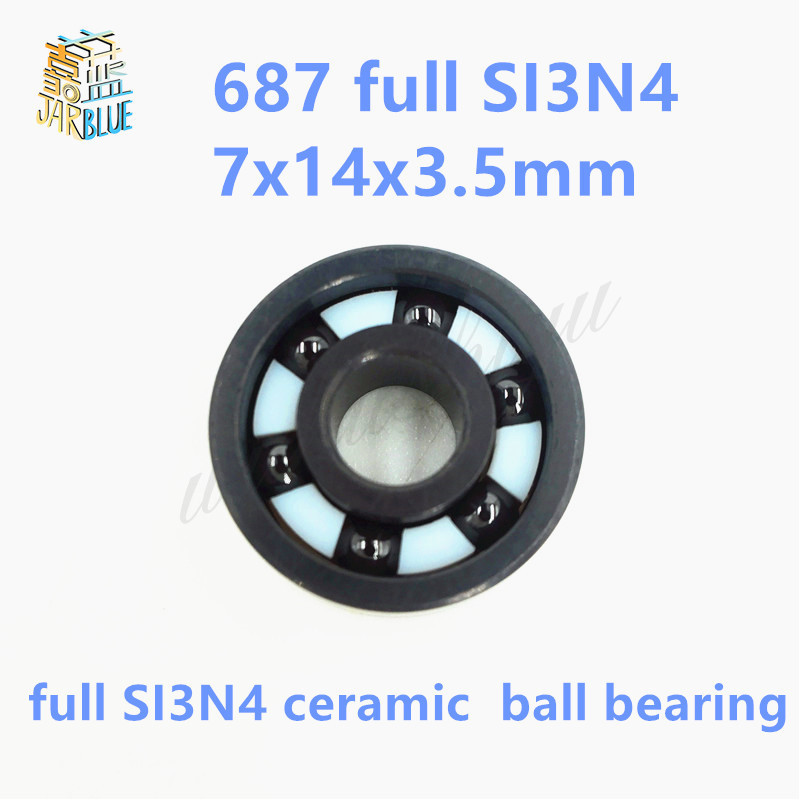 Free shipping 687 full SI3N4 ceramic deep groove ball bearing 7x14x3.5mm P5 ABEC5 free shipping 687 full si3n4 ceramic deep groove ball bearing 7x14x3 5mm p5 abec5