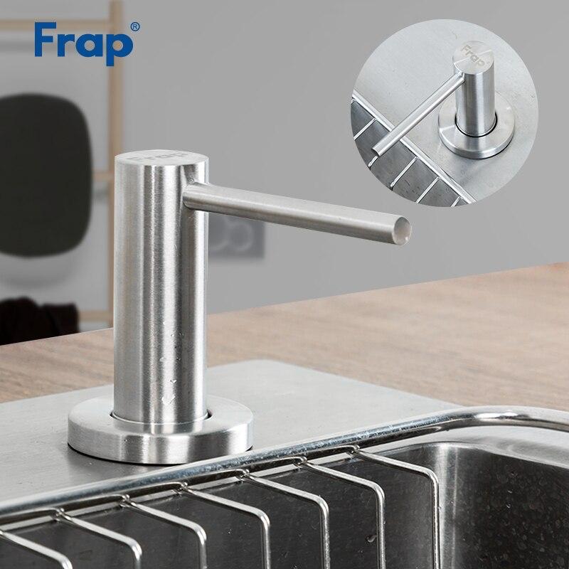 Frap Küche Seife Dispenser Badezimmer Dispenser für Flüssige Seife Lotion Spender Werkzeuge Edelstahl Kopf + ABS Flasche Y35001