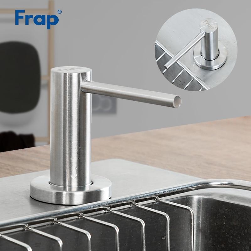 Frap Kitchen Soap Dispenser Bathroom Dispenser For Liquid Soap Lotion Dispensers Tools Stainless Steel Head + ABS Bottle Y35001
