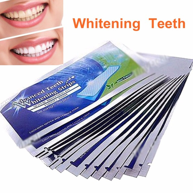 6pcs 3bags Teeth Whitening Strips Gel Care Oral Hygiene Clareador