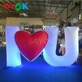 Sayok романтическая гигантская надувная любовь буквенная Свадьба светодиодная буква для вечеринки украшение для сцены на мероприятии День с...