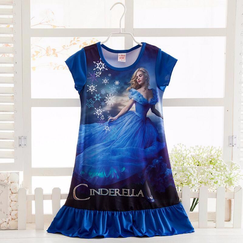 Anna Elsa Girls Dress Snow Queen Princess Dresses for Girls Night Gown Pajamas Baby Dress Kids Sleepwear Pyjamas Clothes 16