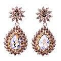 New Arrival Fashion Jewelry Clear Crystal Earrings Long Earrings for Women Wedding Bridal Drop Earrings