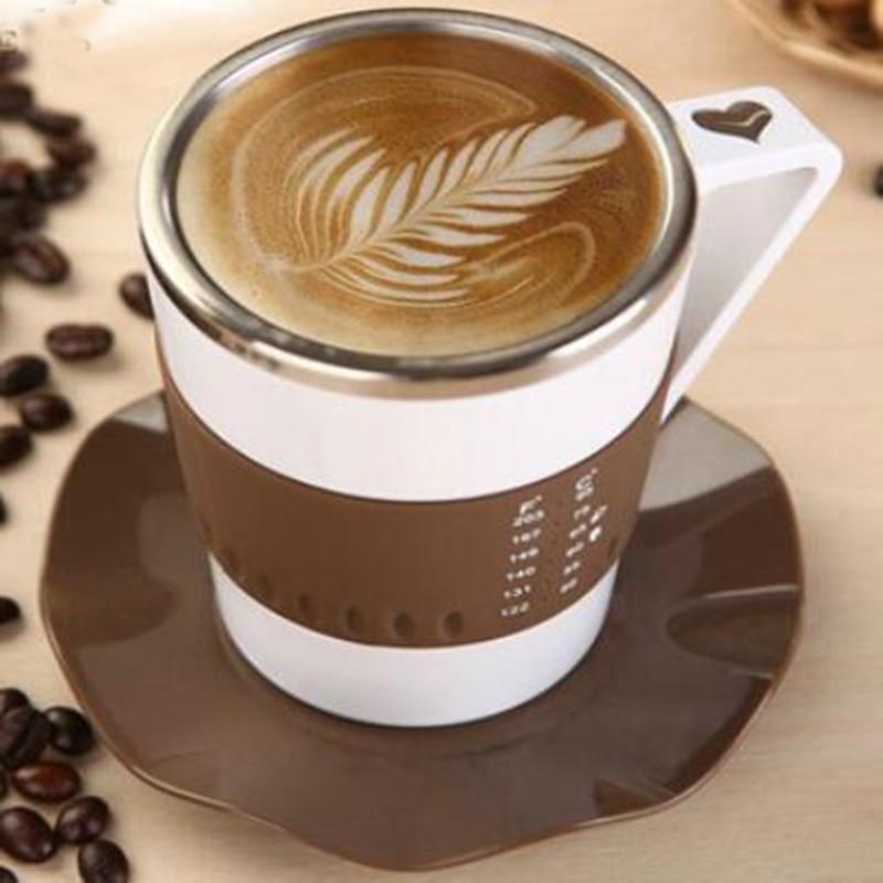 Intelligent Coffee Mugs LED LIGHT Temperature Display Fashion Creative tea mug Stainless Steel Coffee mug Gift