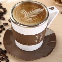 Intelligente Kaffeetassen LED-LICHT Temperaturanzeige Mode Kreative tee becher Edelstahl kaffeetasse Geschenk