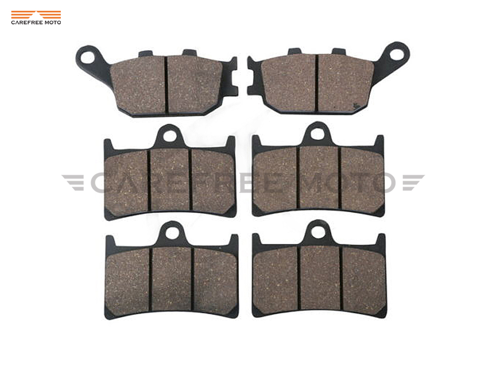 1 Set Semi-Metallic Motorcycle Front & Rear Brake Pads Brake Disks case for YAMAHA FZ1 1000 Fazer ABS 2006 -up callahan [ 2 ] front performance grade semi loaded red caliper set ceramic brake pads