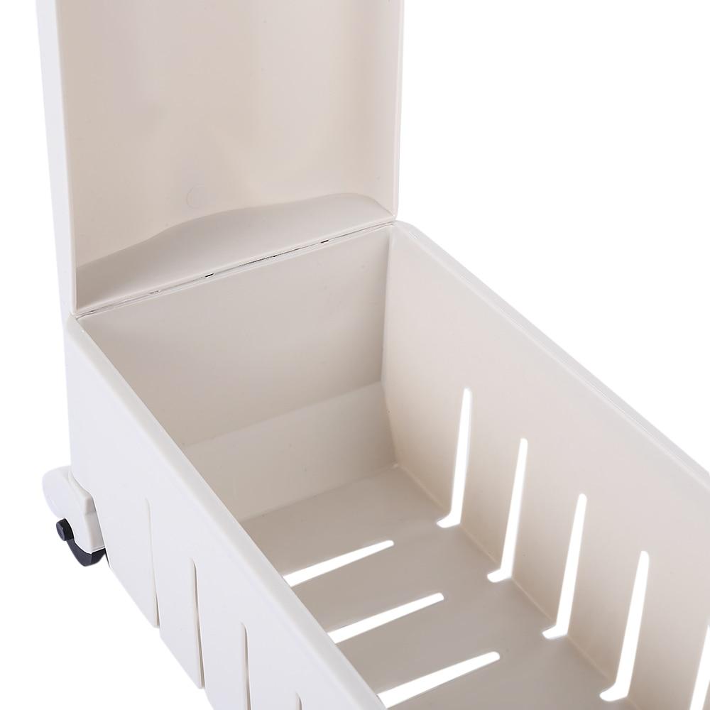 3 Tier Gap Storage Slim Slide Out Tower Rack Shelf Wheels Laundry ...