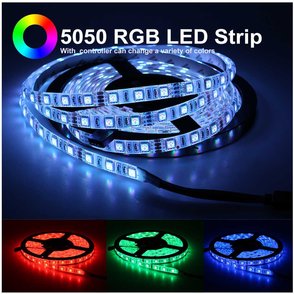 Светодиодные ленты 2835 5050 DC12V гибкий светодиодный свет Водонепроницаемый/без Водонепроницаемый 60 светодиодный/m 5 m 300 светодиодный s белый теплый белый RGB светодиодный свет