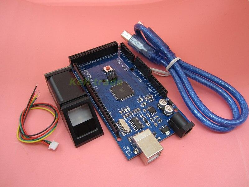 HAILANGNIAO newNew 5pcs FPM10A Fingerprint Module Optical fingerprint sensor + 5pcs Mega 2560 R3 Mega2560 REV3 with usb cable|3D Printer Parts & Accessories| |  - title=