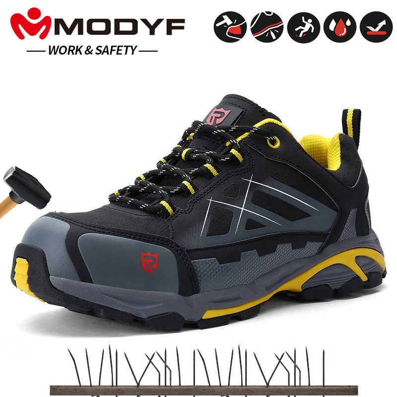 SRC kaymaz, Anti-statik iş çizmeleri Erkekler Için Çelik burunlu güvenlik ayakkabıları Güvenlik Sneakers Delinme Geçirmez Iş Ayakkabı