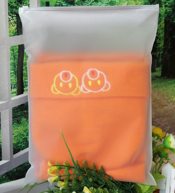 Whole Custom Logo Frosted Plastic Bag Clothes Zip Lock Self Sealing Clothing Packaging Zipper