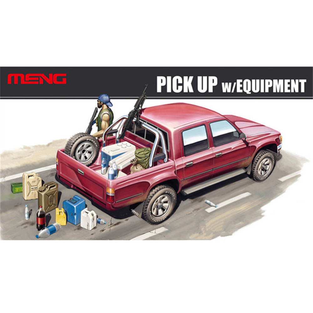 OHS Meng VS002 1 35 PICK UP W EQUIPMENT Plastic Military Truck Model Building Kits oh
