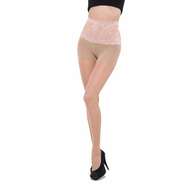 7b8091df5 € 8.19 |Estilo de Cintura alta de Encaje Pantimedias Medias Sin Costura  Medias BONAS 2017 Moda Femenina Mujeres Calcetines Y Medias en Medias de ...