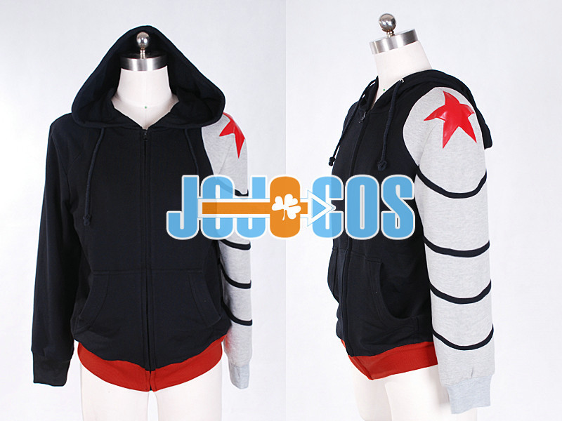 Captain America 2 The Winter Soldier Custom Made Hoodie Anime Cosplay Costume movie captain america the winter soldier black widow cosplay costume custom made any size