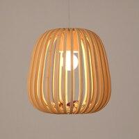 Художественное украшение идиллическая деревенская Подвесная лампа под бамбук. Креативная Подвесная лампа деревянная ручная работа. Спаль