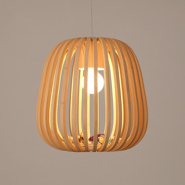 Art Decoration Idyllic Village Bamboo Pendant Lights Creative Suspension Lamp Wooden Handmade Bedroom Balcony