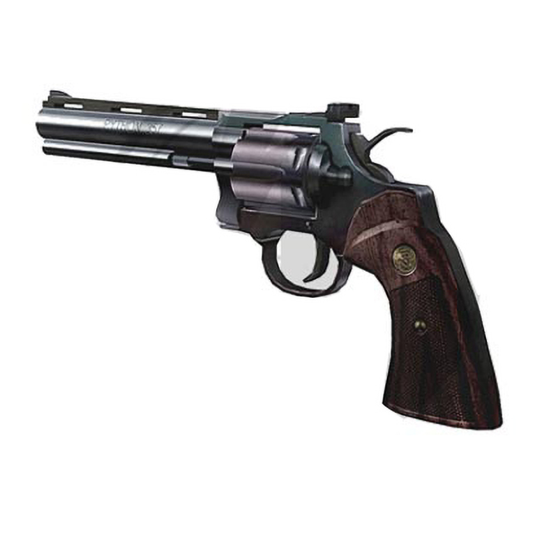 1:1 Scale 29cm Revolver Python Gun 3D Paper Model DIY Papercraft Toy Boy Gift  Diy Toys