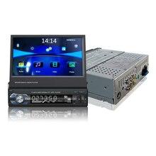 Universal de 7 polegadas 1DIN Deslizar Para Baixo de Som Do Carro da Tela de Toque Construído em GPS Preinstall Mapa de Navegação Bluetooth FM MP5 Áudio jogador