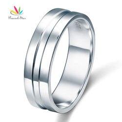 Павлин звезда полированный Для мужчин, стерлингового серебра 925 Обручальное кольцо ювелирные изделия cfr8058