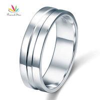 High Polished Plain Men S Solid Sterling 925 Silver Wedding Band Ring CFR8058