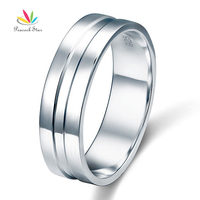 High Polished Plain Men S Solid Sterling 925 Silver Wedding Band Ring CFR8058