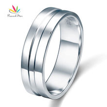 Peacock Star High Polished Men s Solid Sterling 925 Silver Wedding Band Ring Jewelry CFR8058