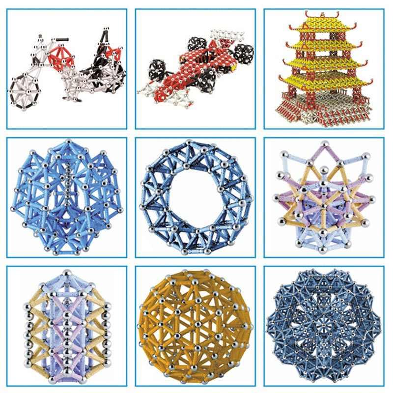 280-50 шт. магнитные игрушки, магнитные строительные блоки, строительные игрушки для детей, дизайнерские Развивающие игрушки для детей, металлические шарики