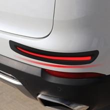 2 sztuk/zestaw naklejki samochodowe zderzak chroniąca przed zarysowaniami z przodu samochodu/tylne krawędzie ochraniacz narożny chroniąca przed zarysowaniami paski dekoracyjne
