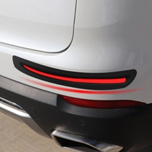 2pcs Car Sticker Bumper Scratch Protection Front/Rear Edge Corner Guard Decoration Strips