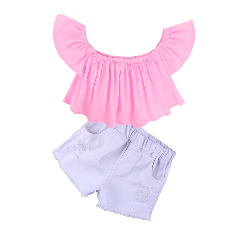 Children Sets for Girls Fashion 19 New Style Girls Suits for Children Girls T-shirt + Pants + Headband 3pcs. Suit ST307 18