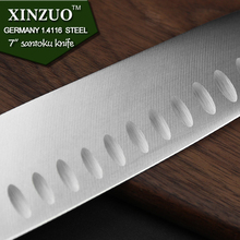 XINZUO 7 inch santoku knife GERMAN DIN1.4416 steel kitchen knife