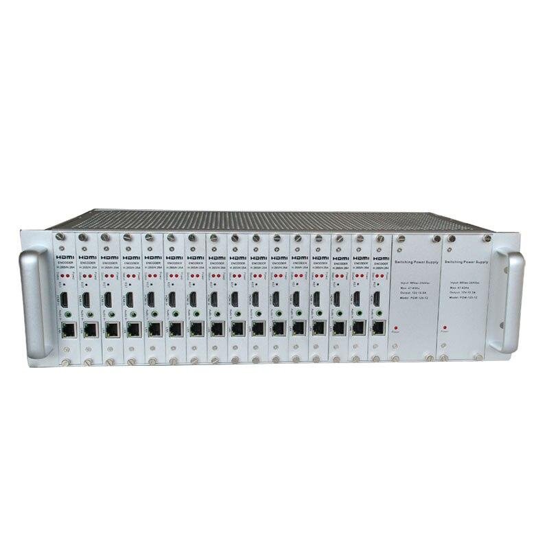 Encodeur HDMI H.264 & H.265 | châssis monté en rack HDCP 1080 P 3U avec canaux 16CH pour diffusion en direct IPTV FOXWEY