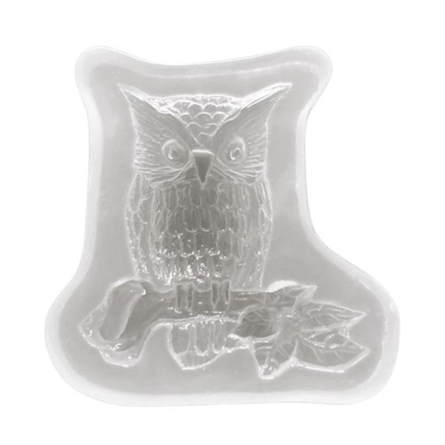 Silicone Mold Owl Animal DIY Jewelry Making Handmade UV Epoxy Resin Mirror Standing Decoration Home Crafts