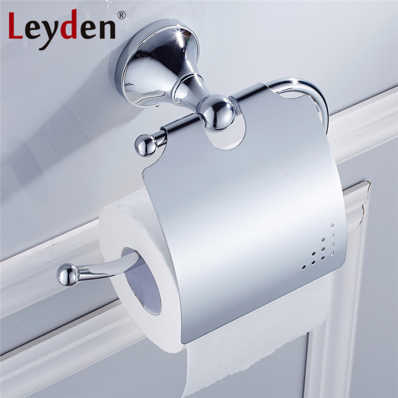 Leyden Luxury Toilet Paper Holder Orb Antique Br Golden Chrome Wall Mount Solid Roll Bathroom Accessory In Holders From Home